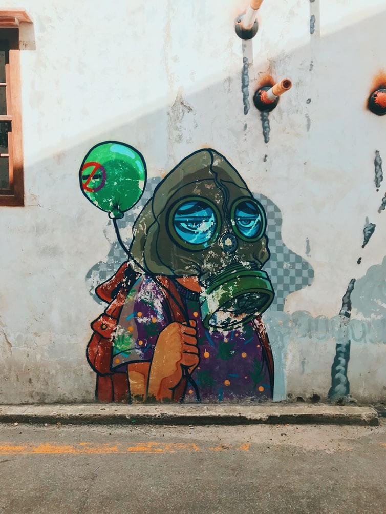 Air Pollution Street Art